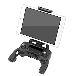 Anbee Foldable 4-10 Inch Phone/Tablet Extended Front Holder - Over Display Mount for DJI Mavic Pro & Spark Drone Remote Controller, Free Neck Strap