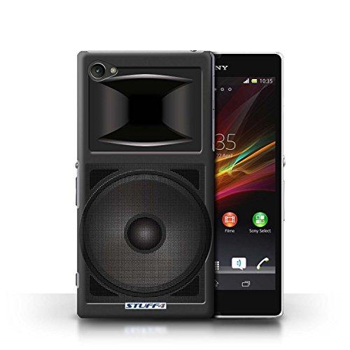 Kobalt® Imprimé Etui / Coque pour Sony Xperia Z1 Compact / Amplificateur conception / Série Haut-Parleur dessin Moniteur Studio
