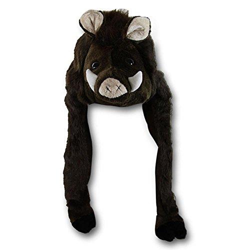 HC-Handel 912145 Plüsch Mütze Wildschwein 55 cm braun