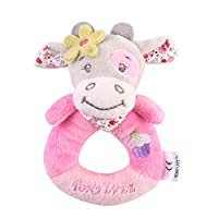 Newborn Baby Animal Soft Rattles Teether, GreatestPAK Infant Plush Giraffe Hanging Bell Handle Toys Interactive Playing