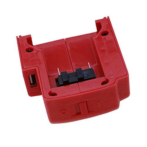 MagiDeal Akku USB Ladegerät für Milwaukee 49-24-2371 M18 Lithium-Ionen Batterie