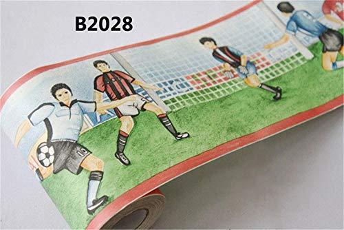 Borde papel pintado resistentes agua Partido fútbol