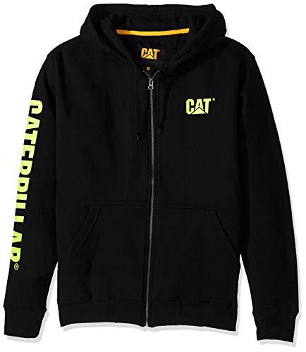 Caterpillar Herren Full Zip Hooded Sweatshirt Kapuzenpulli, schwarz/grün, 4X-Large Schwarze Zip Hooded Sweatshirt