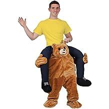Disfraz de oso llevando a hombros. Disfraz para adulto