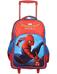 d7932175e56f EDUVILLE Boy s and Girl s Polyester Spider Man Homecoming Trolley School  Travel Bag (Blue and Red