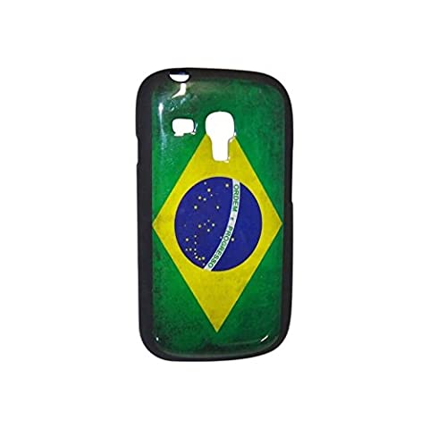 Schutzhülle aus Gel Flagge Brasilien Used Look für Samsung Galaxy S3Mini (Ebay Samsung S3 Mini)