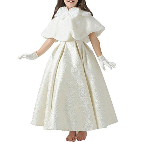 Odziezet Capa de Vestido Niña Princesa Blanco Elegantes Poncho Infantil Boda Fiesta Manto Fiesta Disfraz...