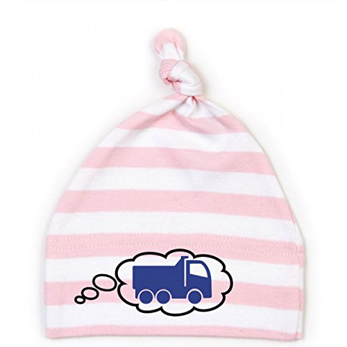 Mikalino Baby Mütze Kipplaster, Größe:6-12 Monate;Farbe:rosa-white