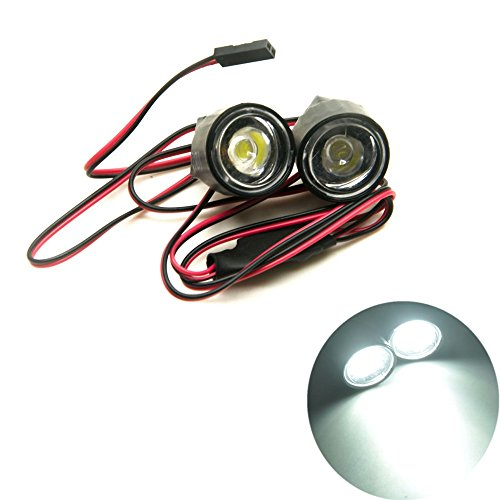 XUNJIAJIE 1 Stück Weiß 1W Head Light Headlight RC Autolicht for Alle 1/10 RC Car Crawler