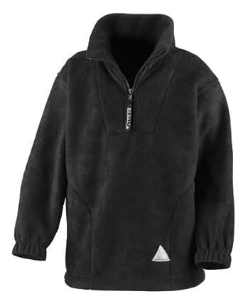 Kids quarter zip pullover fleece black 3-4