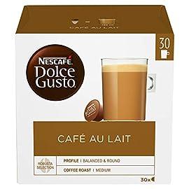 NESCAFÉ Dolce Gusto Café Au Lait, 30 Capsules (90 Servings, Pack of 3, Total 90 Capsules)