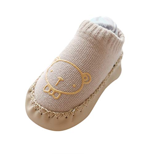 LILIGOD Neugeborene Baby Kleinkind Rutschfeste Kleinkindschuhe Bodensocken Babysocken Socken Kurze Röhre Baby Socken Kinder Boden Socken Babysöckchen Mädchen Jungen Baumwolle Socke - Gold Herren-baumwoll-socken Toe