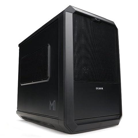 Zalman M1 Mini-Tower PC-Gehäuse (mini-ITX, 1x externe 5,25, 2x interne 2,5, 2x USB 3.0) mit Lüfter (120 (Minitower Pc)
