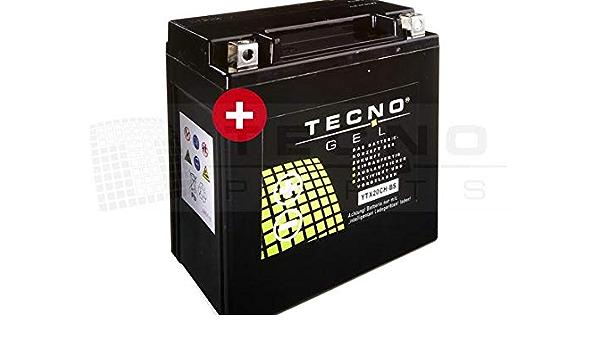 Tecno Gel Motorrad Batterie Ytx20ch Bs Für Moto Guzzi Griso 850 1100 1200 2007 2017 12v Gel Batterie 18ah 150x87x161 Mm Inkl Pfand Auto