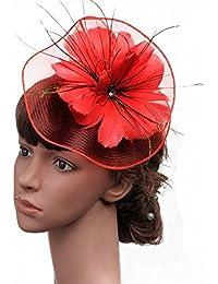 4b20d44fd1616 Eeayyygch Sombrero - señoras otoño e Invierno Tiara señoras Sombreros  Western British Banquete Boda fotografía de