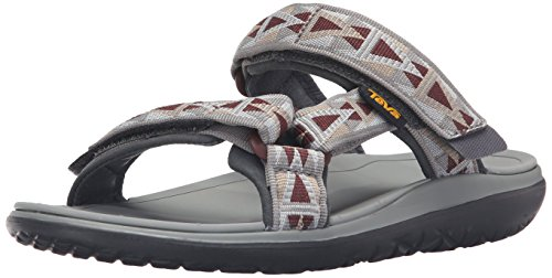Teva Herren Terra-Float Slide Sandalen, Grau (Mosaic Grey/Chocolate-Mgchmosaic Grey/Chocolate-Mgch), 40.5 EU
