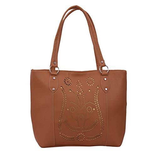 Alice Designer cutwork handbag beige (NKS-514-GUN)  available at amazon for Rs.299