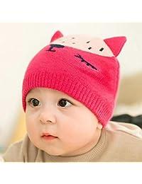 Myzixuan Gorra algodón bebé Sombrero del bebé Lindo Casquillo del Knit Hat  niños y niñas suéter 8429cd32db3