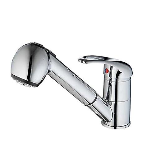 AMZH Robinets de lavabo Cuisine robinets Full cuivre tirant Tap grand printemps Bathroom Sink TAP Robinets de