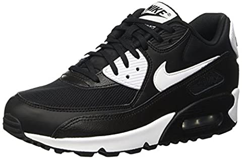 Nike Air Max 90 Essential, Baskets Basses Femme, Noir (Black/White/Metallic Silver), 38.5 EU