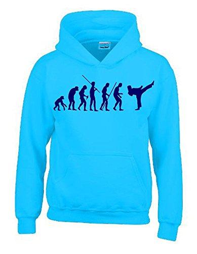 KARATE Evolution Kinder Sweatshirt mit Kapuze HOODIE sky-navy, Gr.140cm