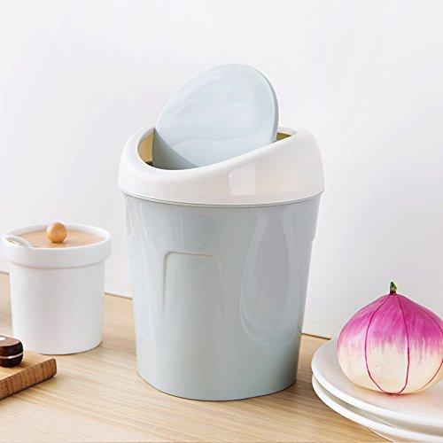 Niocase Abfalleimer, Desktop Mülleimer Mülleimer Mini Papierkorb Aufbewahrungsbox Kunststoffbehälter für Office Home Küche Schlafzimmer, Blau