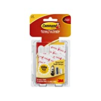 Command 17200-ES, White, Refill Strips, 8 Small, 4 Medium, 4 Large/Pack, 1 Pack