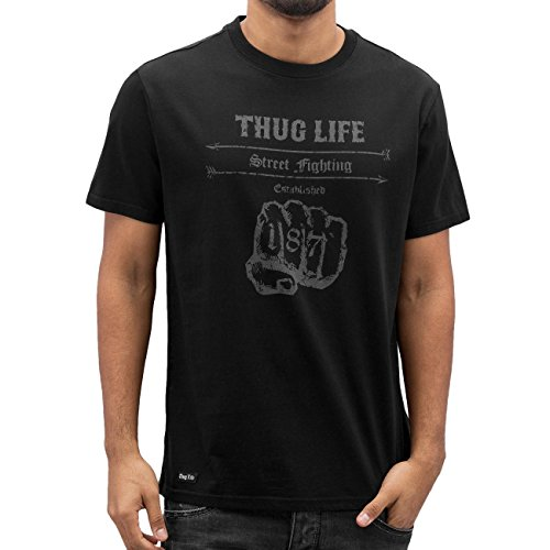 Thug Life Streetfight T-Shirt Black