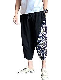 AnyuA Pantalones Estampados Hombre Casual De Fiesta Harem Capri Pantalon b5b6c42eb2ce