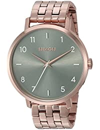 Nixon Women's 'Arrow' Quartz Stainless Steel Casual Watch, Color Rose Gold-Toned (Model: A10902951)