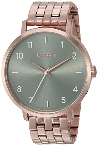 Nixon da donna 'Arrow' Orologio al quarzo acciaio INOX casual, colore rose gold-tonica (Model: A10902951)