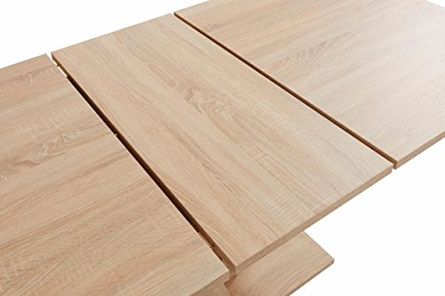 Homexperts David Tisch AZ Spanplatte Eichenholz Optik 16ß-200 cm Breite