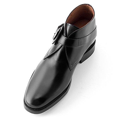 Masaltos - Chaussures rehaussantes pour homme. Jusqu'à 7 cm plus grand! Modèle Dover Noir
