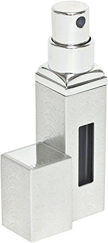 TRAVALO - SKYLINE ALLURE LUXURY EDITION Silver Square, atomizer for perfume and aftershave, GIFT A3504