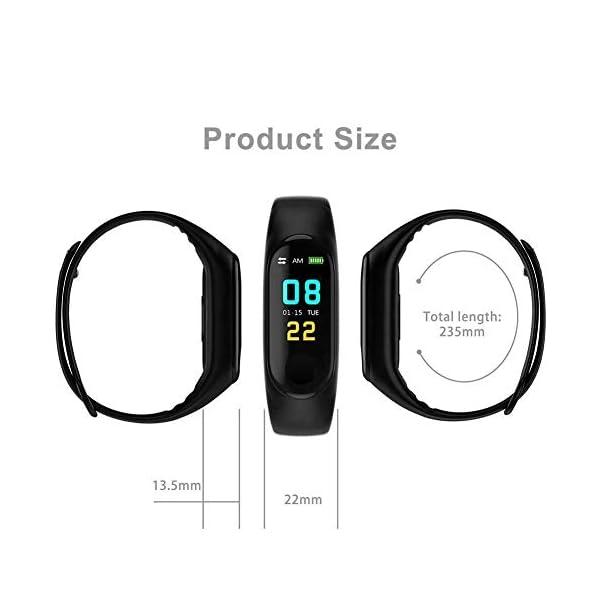 Smartwatch M3 Plus Heart Rate Fitness Tracker SmartBand OLED Smart Wrist Sports Pulsera Pantalla Colorida 7