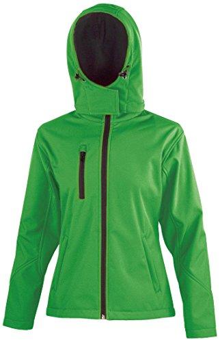 Result Core Performance TX à capuche Veste softshell pour femme–4couleurs Vivid Green/ Black