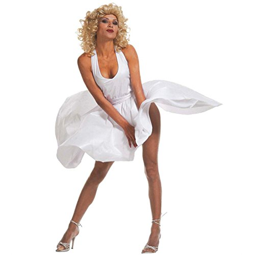 Kostüm Diva 60er Jahre - NET TOYS Sexy Marilyn Monroe Kostüm Diva Kleid Marylin Damenkostüm 50er 60er Jahre Gr L 42/44
