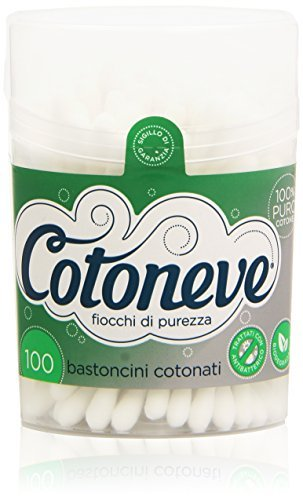 Cotoneve Treated Cotton with an anti-bacterial, 100 Sticks by COTONEVE