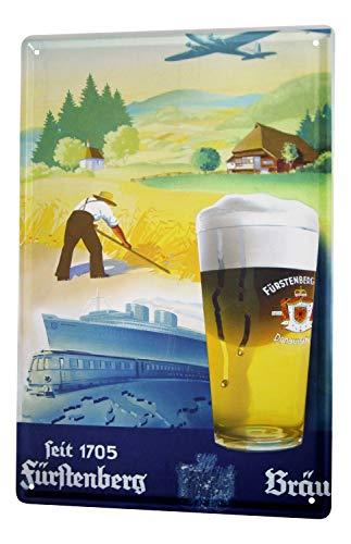 Blechschild Bier Bar Kneipe Fürstenberg Retro Werbung Seit 1705 Wand Deko Metall Schild 20X30 cm