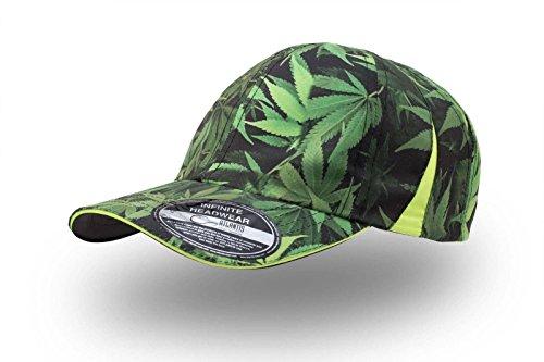 cappello-cappelli-6-pannelli-baseball-unisex-uomo-donna-atlantis-slam-cap-con-stampa-foglie-di-marij