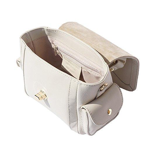 borsetta a mano con tasche laterali 6142 Beige
