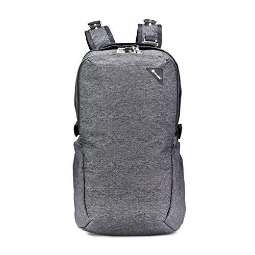 Pacsafe Vibe 25 - Anti-Diebstahl Backpack, Diebstahlschutz Daypack, Rucksack 25 Liter, Grau Melange/Granite Melange
