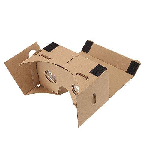 Andoer DIY Google Pappkarton Virtuelle Realität VR Handy 3D-Brille mit NFC Tag für 5,0