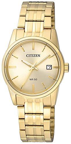Citizen Damen Analog Quarz Uhr mit Edelstahl Armband EU6002-51P