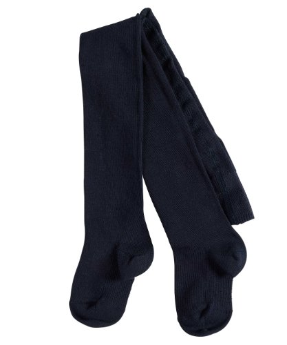 FALKE Babys Strumpfhosen / Leggings Family - 1 Paar, Gr. 62-68, blau, blickdicht, Baumwolle Komfortbündchen, hautfreundlich, Mädchen Jungen