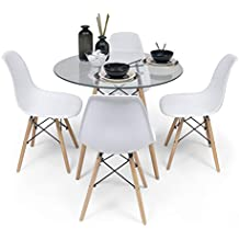 Amazon.es: mesas cristal redondas