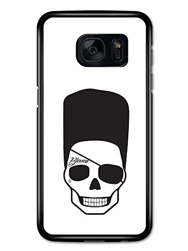 Cool Hipster Skull with Flat Top Eye Patch and Tattoo Minimalist hülle für Samsung Galaxy S7 (Flat Eye Patch)