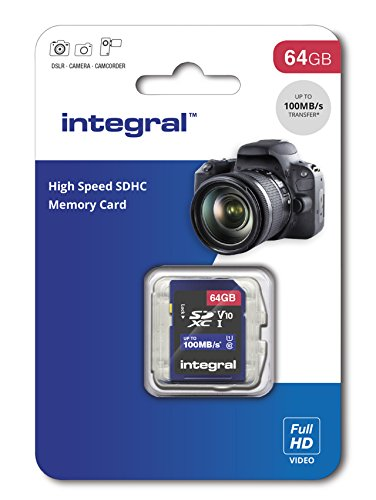 Integral insdx64g 64 GB High Speed SDXC Speicherkarte