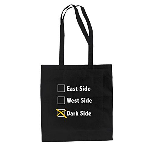 Borsa In Jutebag Di Cotone - Lato Est - Lato Ovest - Lato Oscuro Nero-bianco
