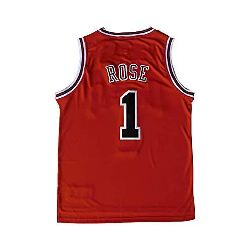 No. 1, Derrick Rose Jersey, Minnesota Timberwolves, Derrick Rose1#, Basketball Jersey, klassisch rot ärmellos, Unisex - Fans müssen-red-XXL Derrick Rose Jersey